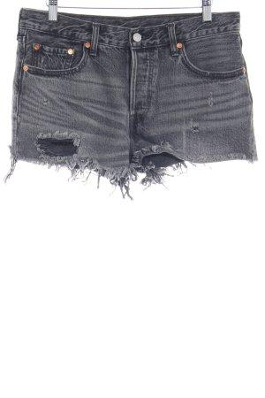 Levi's Jeansshorts grau Used-Optik