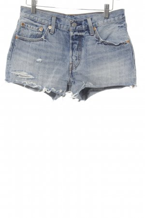 Levi's Denim Shorts azure-steel blue casual look