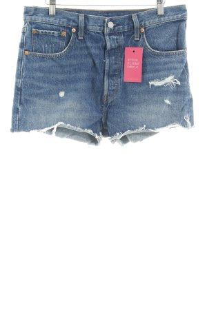 Levi's Jeansshorts stahlblau Street-Fashion-Look