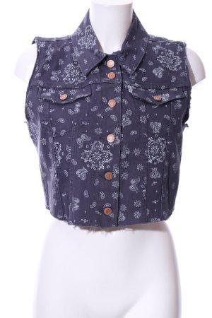 Levi's Denim Vest blue-white flower pattern casual look