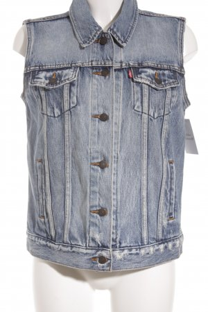 Levi's Jeansweste blau Destroy-Optik