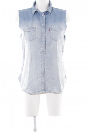 Levi's Denim Vest azure color gradient casual look