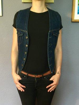Levi's Gilet en jean bleu foncé-bleu