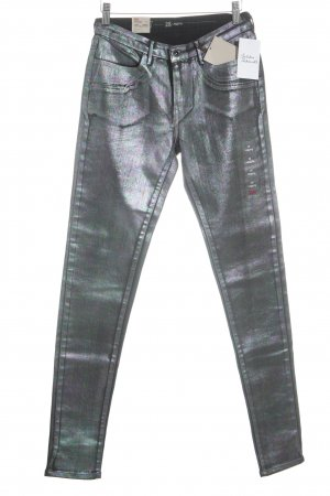 Levi's Jeggings grey violet-forest green galaxy pattern extravagant style