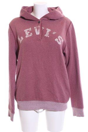 Levi's Kapuzensweatshirt weiß-pink meliert Casual-Look