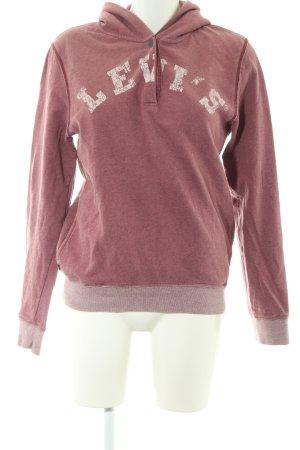 Levi's Kapuzensweatshirt rot-creme Schriftzug gedruckt Casual-Look
