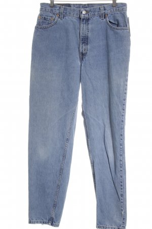 Levi's Carrot Jeans slate-gray-pale blue casual look