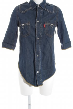 Levi's Short Sleeve Shirt dark blue-camel casual look