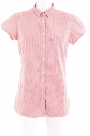Levi's Short Sleeve Shirt bright red-white check pattern simple style