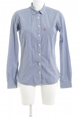Levi's Langarmhemd blau-weiß Allover-Druck Business-Look