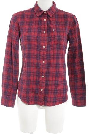 Levi's Langarmhemd rot-dunkelblau Karomuster Casual-Look