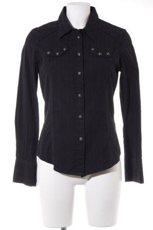 Levi's Langarmhemd schwarz Plastikelemente