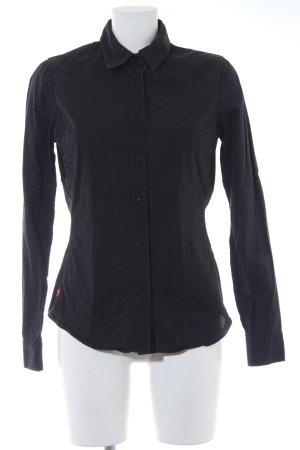 Levi's Langarmhemd schwarz schlichter Stil