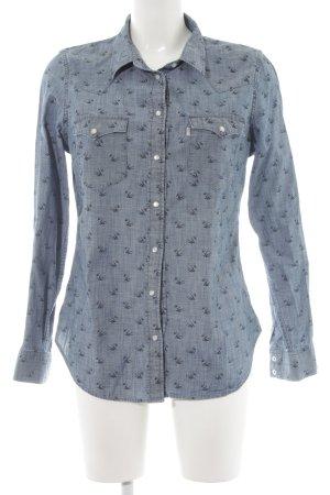 Levi's Camisa de manga larga azul acero-azul aciano estampado gráfico