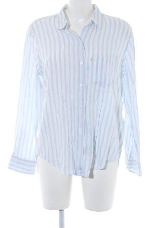 Levi's Langarmhemd weiß-himmelblau Streifenmuster Casual-Look