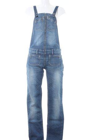 Levi's Salopette en jeans bleu foncé style campagnard