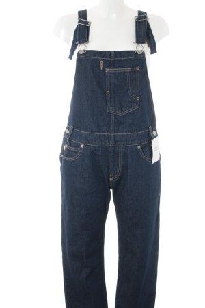 Levi's Salopette en jeans bleu foncé Motif de tissage style campagnard