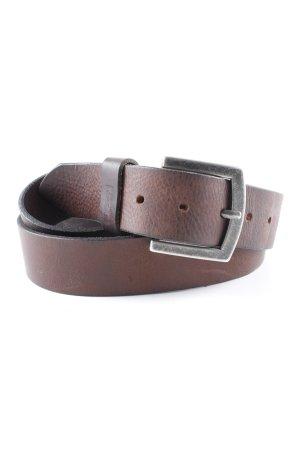 Levi's Cinturón de cuero marrón oscuro estilo sencillo