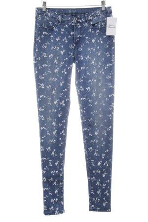 Levi's Leggings stahlblau-weiß florales Muster Romantik-Look
