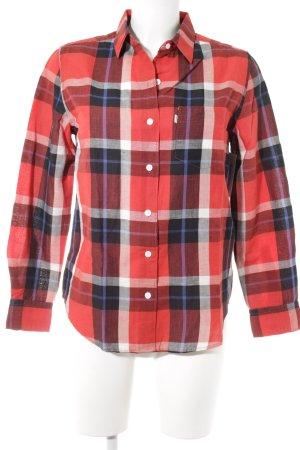 Levi's Blusa de lino estampado a cuadros estilo boyfriend