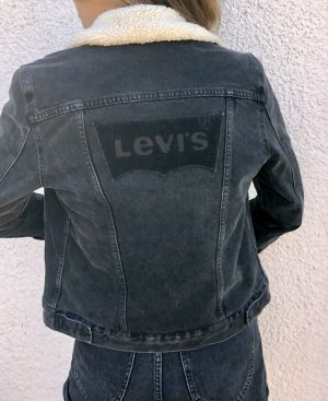 Levi's Levi Strauss Trucker Biker Jeansjacke Denim Teddy Fell Fellkragen