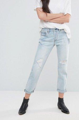 """Levi's Levis 501CT """"Old Favorite"""" Jeans hellblau Boyfriend-Jeans 26 32"""