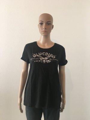 Levi's Levis Shirt l large schwarz black Oberteil T Shirt Baumwolle leinen schwarz Print Brust Druck Schrift cool Basic Musthave naturfaser