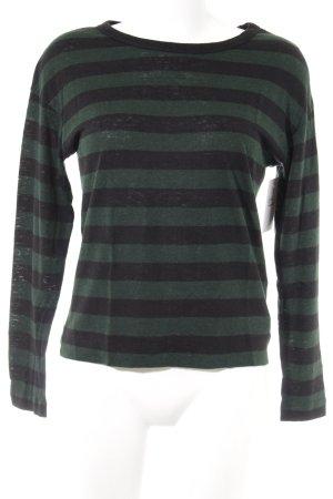 Levi's Longsleeve black-dark green striped pattern boyfriend style