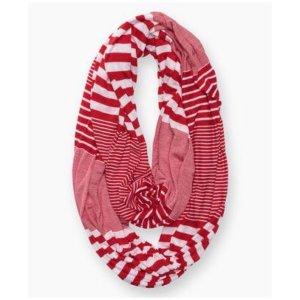 Levi's Bufanda tubo blanco-rojo