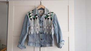 Levi's Veste en jean bleu clair-vert