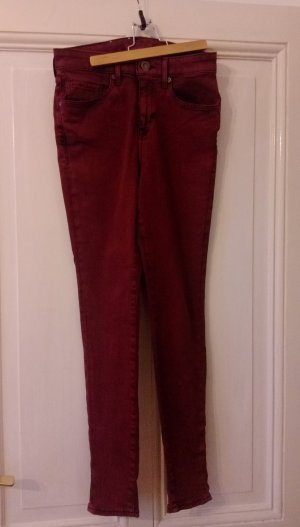 Levi's Made&Crafted Jeans Hose weinrot Gr S 36 Silver High Rise Skinny Jeans W27