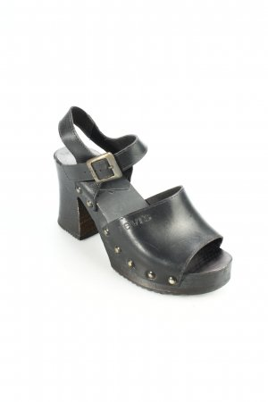 Levi's Platform High-Heeled Sandal black-black brown street-fashion look