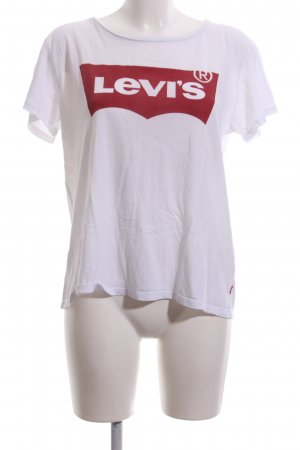 Levi's Print Shirt white-red printed lettering casual look