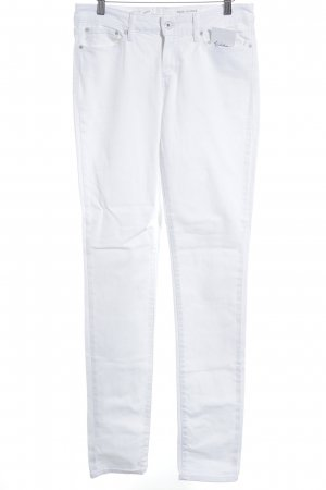 Levi's Drainpipe Trousers white simple style