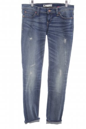 Levi's Röhrenjeans dunkelblau-wollweiß Washed-Optik