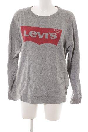 Levi's Rundhalspullover grau-rot Casual-Look