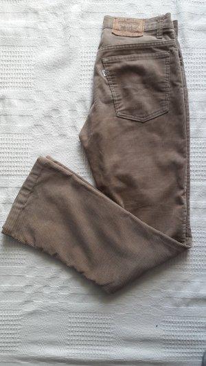 Levi's Pantalon en velours côtelé beige-brun sable coton