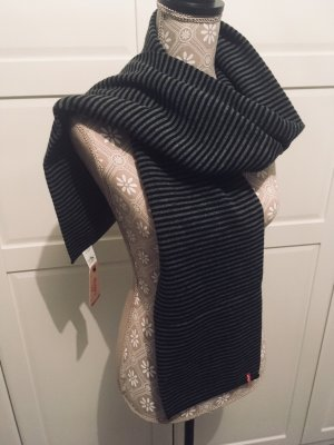 Levi's Schal gestreift schwarz/grau