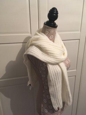 Levi's Sciarpa lavorata a maglia bianco sporco