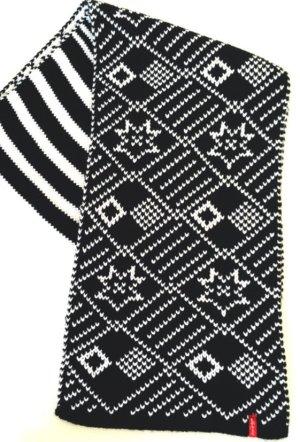 Levi's Bufanda de lana negro-blanco