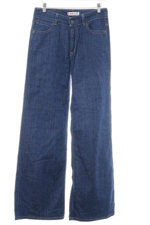 Levi's Pantalon pattes d'éléphant bleu Aspect de jeans