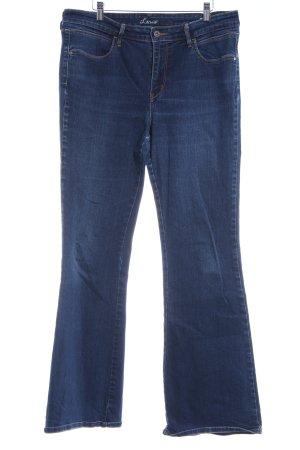 Levi's Pantalon pattes d'éléphant bleu foncé-gris ardoise