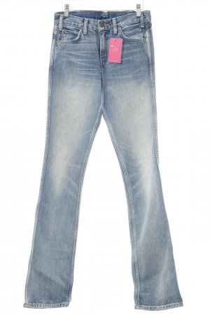 Levi's Flares steel blue jeans look