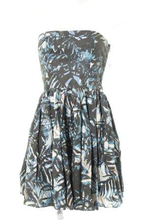 Levi's schulterfreies Kleid abstraktes Muster Beach-Look