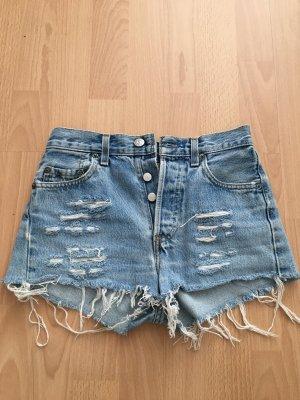 Levi's High-Waist-Shorts azure-white