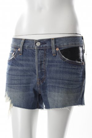 Levi's Shorts blau Destroy-Optik