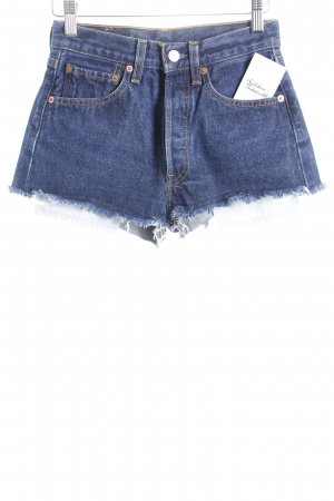 Levi's Shorts dunkelblau Used-Optik