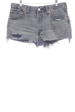 Levi's Shorts dunkelgrau Destroy-Optik