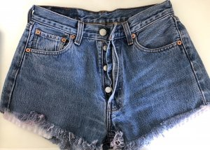 Levi's Pantaloncino di jeans blu-blu acciaio