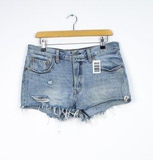 Levi's Pantalón corto de tela vaquera azul celeste